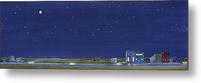 Metal Print featuring the painting The Sweetest Little Town In The Prairie by Scott Kirby
