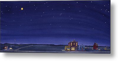 Metal Print featuring the painting The Sweetest Little Town On The Prairie V by Scott Kirby