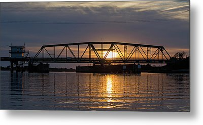 The Swing Bridge Metal Print by Betsy Knapp