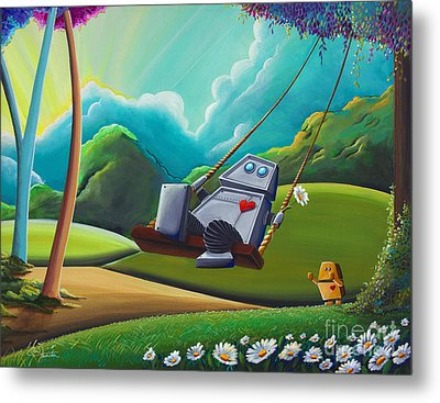 The Swing Metal Print by Cindy Thornton