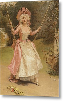 The Swing Metal Print by English School