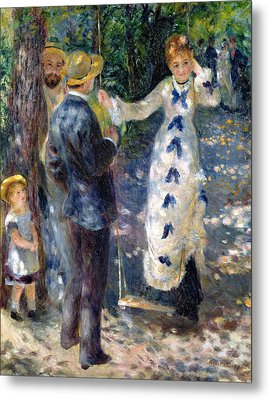 The Swing Metal Print by Pierre Auguste Renoir