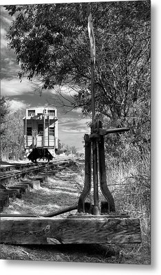 The Switch And The Caboose Metal Print by James Eddy