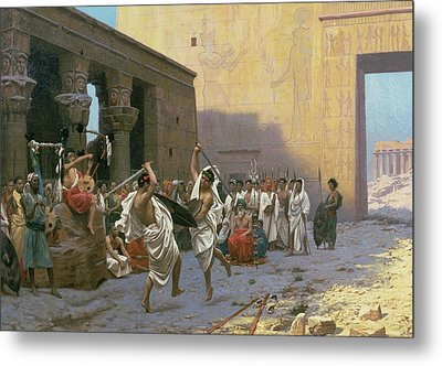 The Sword Dance Metal Print by Jean Leon Gerome