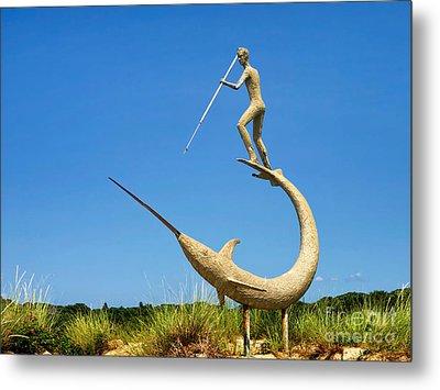 The Swordfish Harpooner Metal Print by Mark Miller