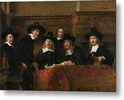 The Syndics Of The Amsterdam Drapers' Guild Metal Print by Rembrandt