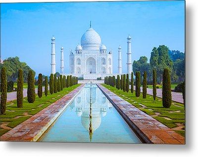 The Taj Mahal Of India Metal Print