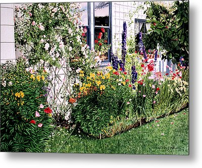 The Tangled Garden Metal Print by David Lloyd Glover