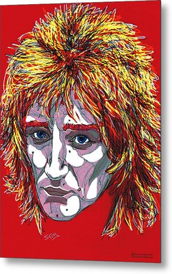 The Tartan Of Rod Stewart Metal Print by Suzanne Gee