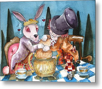 The Tea Party Metal Print by Lucia Stewart