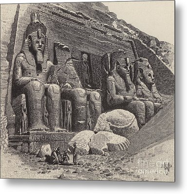 The Temple Of Abu Simbel Metal Print