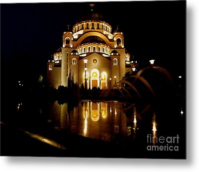 Metal Print featuring the photograph The Temple Of Saint Sava In Belgrade  by Danica Radman