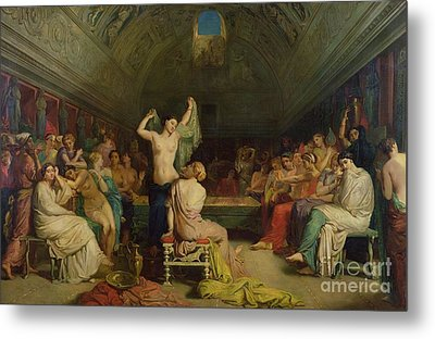 The Tepidarium Metal Print by Theodore Chasseriau