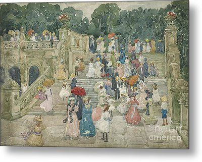 The Terrace Bridge, Central Park Metal Print by Maurice Brazil Prendergast
