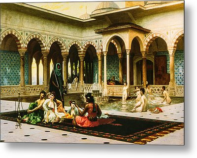 The Terrace Of The Harem Metal Print by Jean Leon Gerome