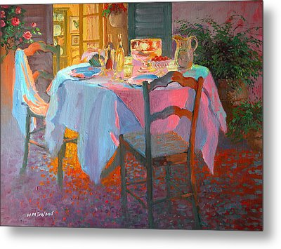 The Terrace Metal Print by William Ireland