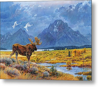The Teton Trio Metal Print by Steve Spencer
