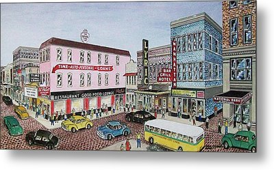 The Theater District Portsmouth Ohio 1948 Metal Print