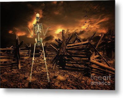 The Theatre Of War Metal Print by Nichola Denny