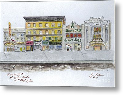 Theatre's Of Harlem's 125th Street Metal Print by AFineLyne