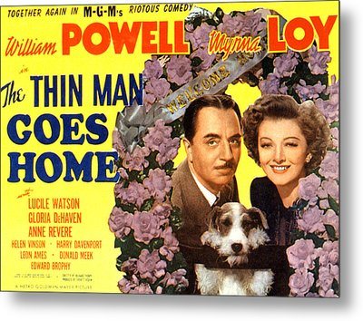 The Thin Man Goes Home, William Powell Metal Print
