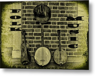 The Three Amigos - Folk Music Metal Print by Bill Cannon