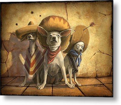 The Three Banditos Metal Print by Sean ODaniels