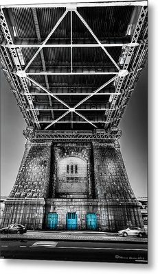 The Three Blue Doors Metal Print by Marvin Spates