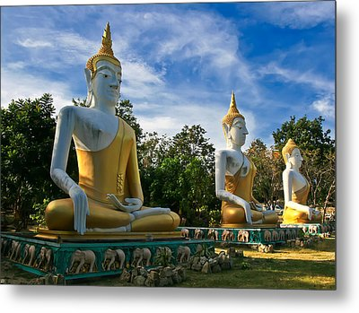 The Three Buddhas  Metal Print by Adrian Evans