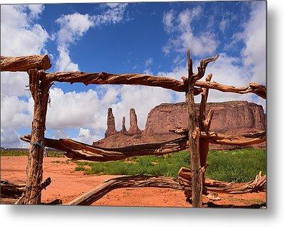 The Three Sisters Framed - Arizona Metal Print by Dany Lison