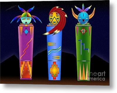 The Three Spirits Metal Print