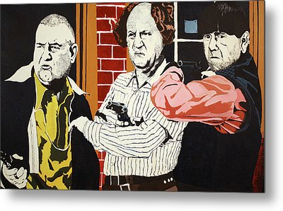Metal Print featuring the painting The Three Stooges by Thomas Blood