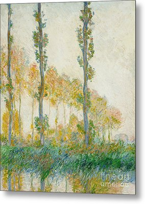 The Three Trees Metal Print by Claude Monet