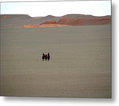The Three Wisewomen Of The Gobi Metal Print by Diane Height