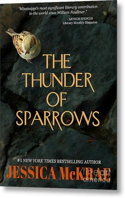 The Thunder Of Sparrows Book Cover Metal Print by Mike Nellums