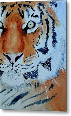 Metal Print featuring the painting The Tiger by Steven Ponsford