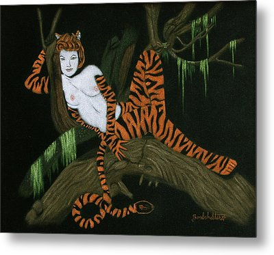 The Tigress Metal Print by Diane Bombshelter