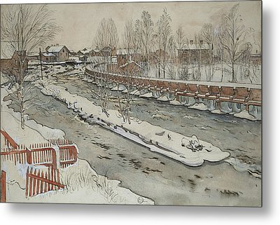 The Timber Chute. Winterscene. From A Home Metal Print