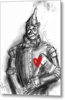 The Tin Man Metal Print by Russell Pierce