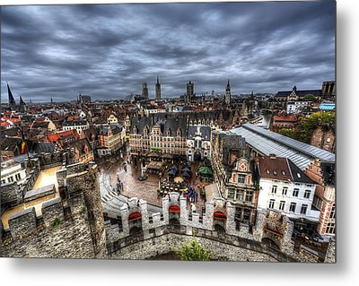 Metal Print featuring the photograph The Top Of Ghent by Shawn Everhart