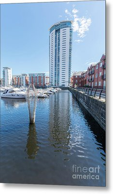 The Tower Meridian Quay 1 Metal Print by Steve Purnell