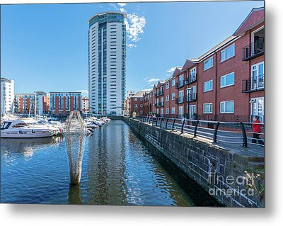 The Tower Meridian Quay 2 Metal Print by Steve Purnell