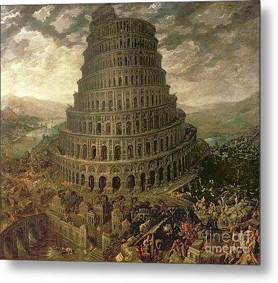 The Tower Of Babel Metal Print by Tobias Verhaecht