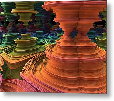 Metal Print featuring the digital art The Towers Of Zebkar by Lyle Hatch