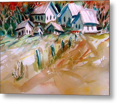 The Town On Shaky Ground Metal Print by Steven Holder
