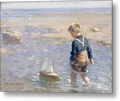 The Toy Boat Metal Print by William Marshall Brown