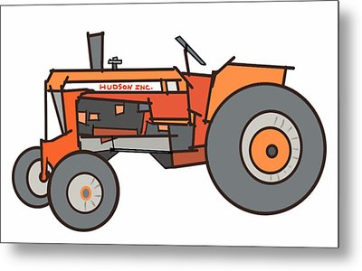 The Tractor Metal Print by Denny Casto