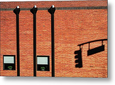 The Traffic Light Intruder Metal Print