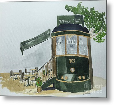 The Tram Cafe Metal Print by Eva Ason
