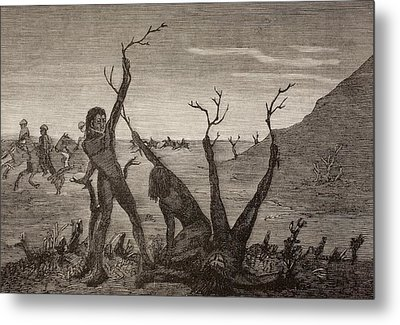 The Tree Men Of India In The 19th Metal Print by Vintage Design Pics